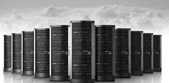 cloud corridor servers in data center